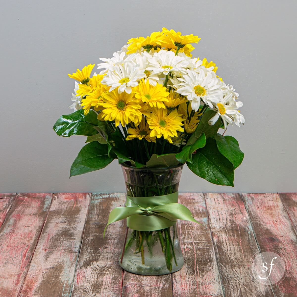 Crazy for daisies baby shower flowers seasonal summer gift yellow and white daisies in bright summery arrangement reviewsmspy