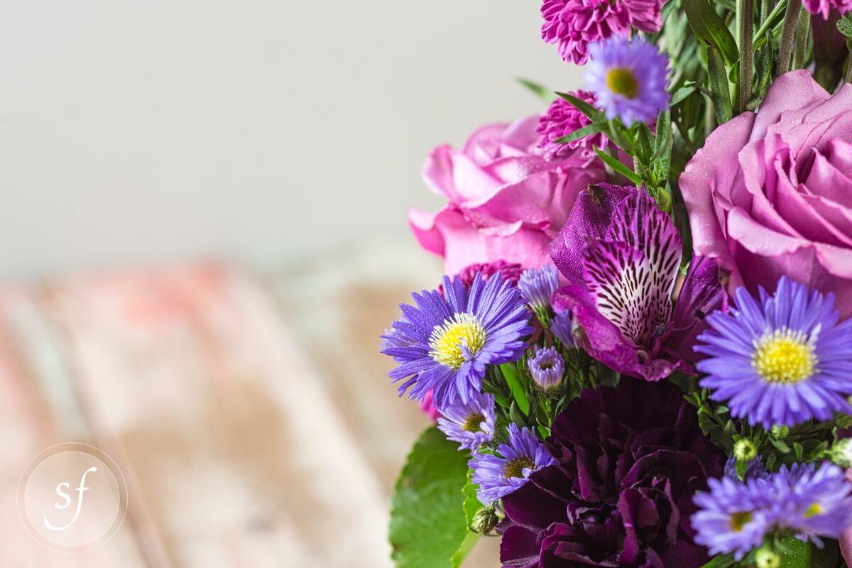 Purple Aster Flower Bouquet 94920 Movieweb