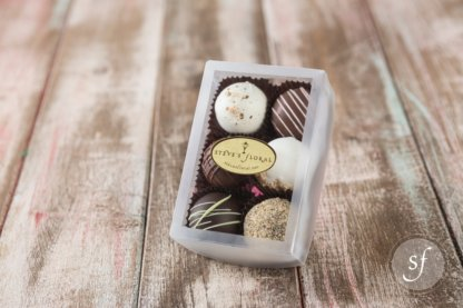 Six pack of locally crafted, artisan chocolate from Granada Sweets in Emporia, Kansas available from Steve's Floral in Manhattan, KS.