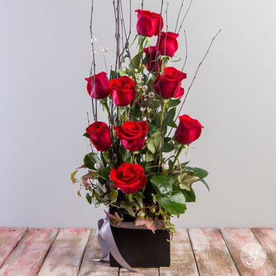 Stairway to Heaven is a modern, romantic flower arrangement that is perfect for an Anniversary or Valentine's Day gift.