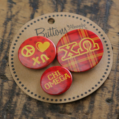 Chi Omega Buttons