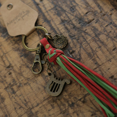 Alpha Chi Omega Tassel Keychain