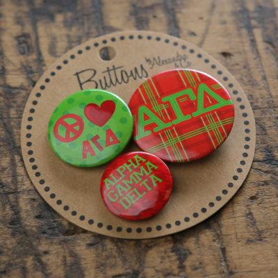 Alpha Gamma Delta Buttons