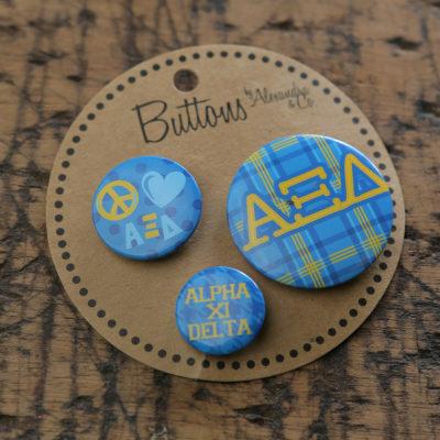Alpha Xi Delta Buttons
