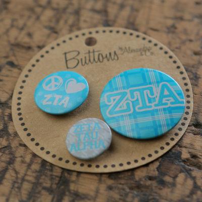 Zeta Tau Alpha Buttons