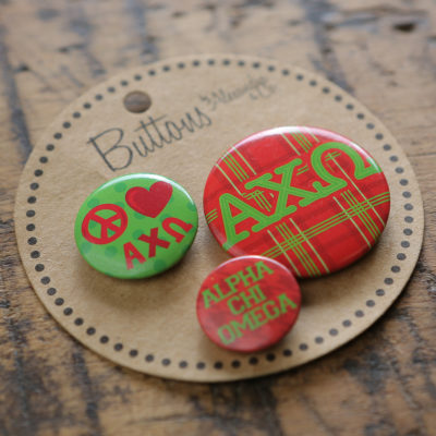 Alpha Chi Omega Buttons