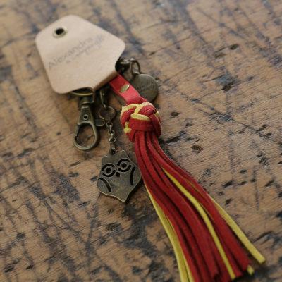 Chi Omega Tassel Keychain