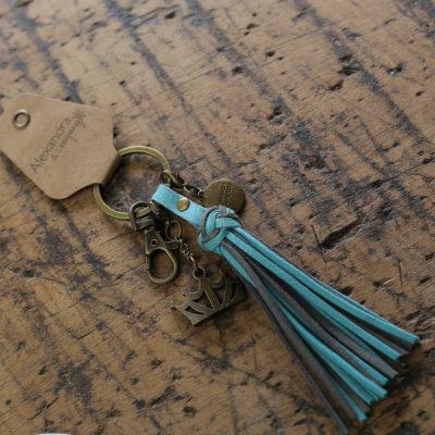 Zeta Tau Alpha Tassel Keychain